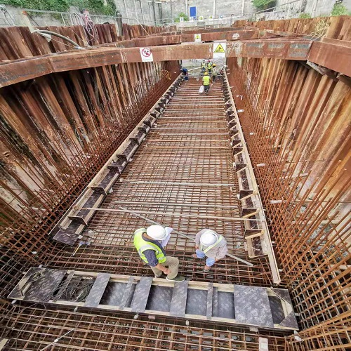 斯里兰卡出海口明渠施工